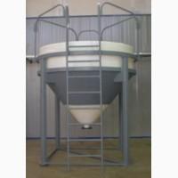 Пластиковые бункеры для зерна и пр. собственного производства