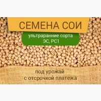 Семена сои под урожай с отсрочкой платежа