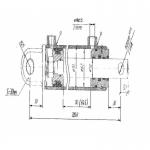 Гидроцилиндр захвата КО-510.01.09.000-06 (63х32х145.22) контейнера