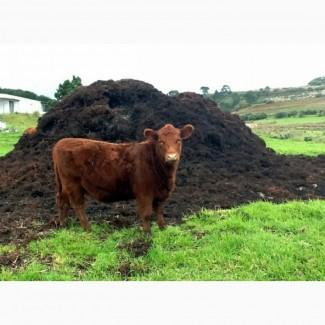 Коровий навоз свежий в мешках по 60 литров