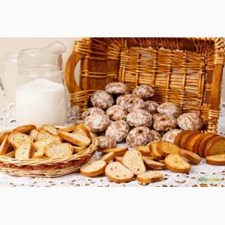 Продажа сушек, сухарей, овсяного печенья от производителя