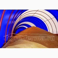 Зернохранилище, склад для зерна, тентовый ангар