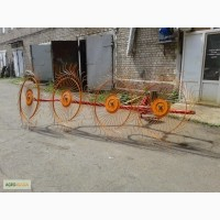 Грабли-ворошилки навесные 4-х, 5-и колесные Кормилец (Россия)