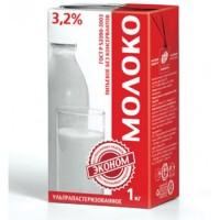 Молоко Эконом 3.2% с крышкой, у/пастеризованное ТБА