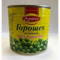 Зеленый консервированный горошек