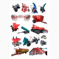 Навесное оборудование для мотоблоков, культиваторов, мини тракторов, тракторов