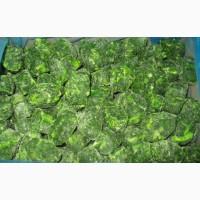 Шпинат листовой порционный замороженный