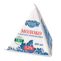 Молоко Юдановские просторы, м.д.ж. 3, 2% (ТСА), 200 мл ГОСТ