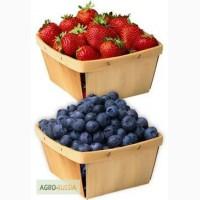 Лотки- подложки из шпона для фасовки ягод