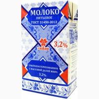 Молоко ТЯЖИН 1, 0 л