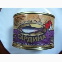 ООО Сантарин, реализует рыбные консервы, производства Калининград