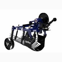 Однорядный картофелекопатель грохотного типа для мини-трактора или тяжелого мотоблока