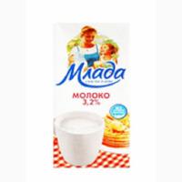 Продам оптом ультрапастеризованное молоко Млада 3, 2%