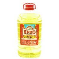 Масло подсолнечное ЯРКО, 5 литров, высший сорт, РДВ