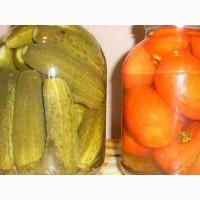 Консервированные огурцы и помидоры