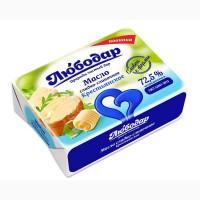 Масло сладко-сливочное Крестьянское 72, 5% / фольга 100/180 гр / Любодар