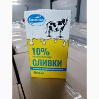 Сливки Станичные м.д.ж. 10% (ТБА) 1л
