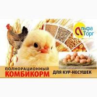 Комбикорм полнорационный ПК-1-2- для КУР несушек(40-60недель)