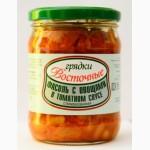 Фасоль с овощами в томатном соусе, РБ
