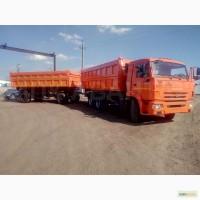 Зерновоз камаз 65115 с прицепом
