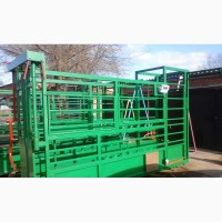 Раскол для фиксации КРС, взвешивания, ветеринарной обработки быков, коров, телят
