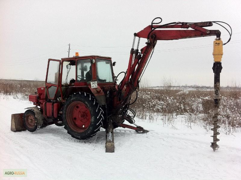 Экскаватор МТЗ-82 с грейферным захватом в Калуге, 挖掘机MTZ.